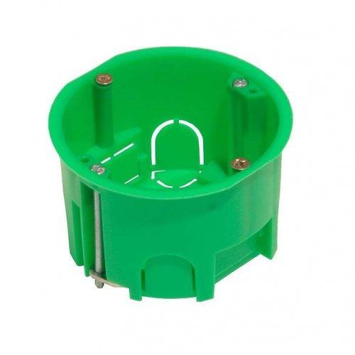Коробка установочная 68х45мм металлические лапки ГИПРОК