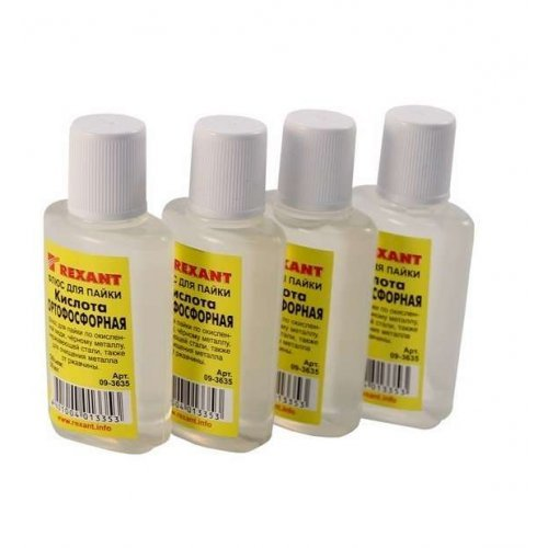 Флюс для пайки (кислота ортофосфорная) 30 мл. REXANT 09-3635