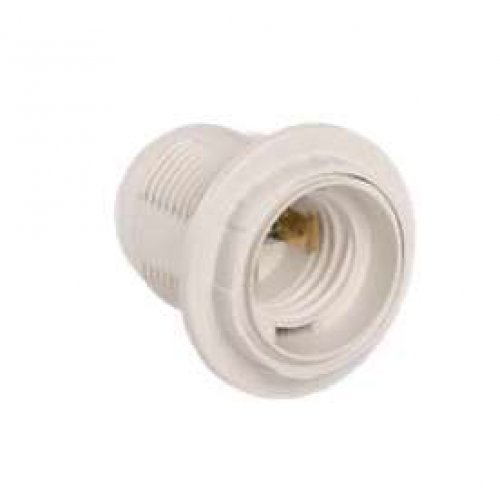Патрон электрич. E27 Ппл27-04-К12 с кольцом пластик. бел. (с этикет.) ИЭК EPP11-04-01-K01