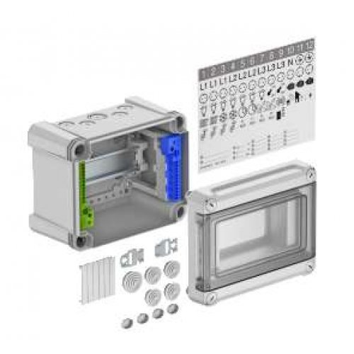 Щиток распред. 190х150х125 на 5 модулей с быстрозажим. клеммами SDB 05 PC OBO 2008844