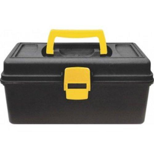 Ящик для инструмента пластиковый 13 (31,5 х 15 х 18 см) (черно-желтый)